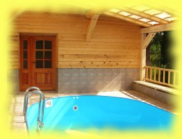 Zastřešený bazén 7,5 x 4 m